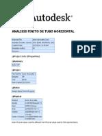 Analisis Finito de Tubo Horizontal