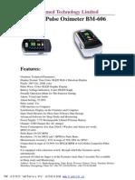 Fingertip Pulse Oximeter BM-606