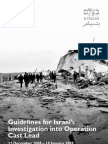 Guidelines for Israel's Investigation into Operation Cast Lead