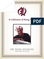 Maya Angelou Funeral Program