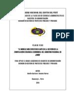 El Modelo Multicriterio (Ahp) en La Gestión de La Zonificación Ecológica Económica