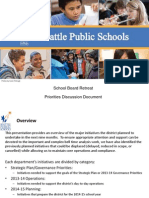 Seattle School District Priorities for 2014-2015