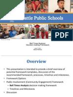 Seattle School District Presentation Framework on Bell Times Analysis