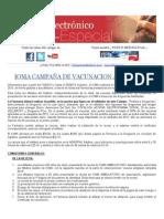 Boletin Electronico Especial - Ioma Vacunas