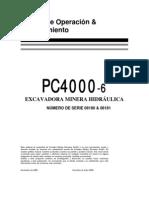 Manual de Operacion Excavadora Pc4000 Komatsu