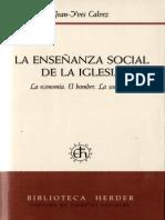 Calvez Jean Yves - La Enseñanza Social de La Iglesia