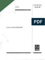 Cov 2649-89 Galgas de Espesor