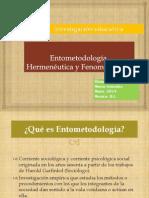 Entometodología - Hermenéutica - Fenomenología -