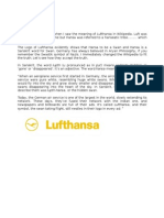 Lufthansa Meaning- by Kedar Ghimire