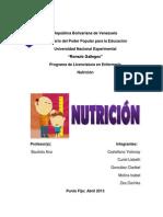 Trabajo de Nutrición (Crecimiento y Desarrollo)