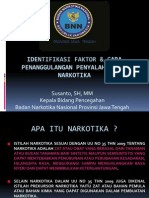 Identifikasi Faktor & Cara Penanggulangan Penyalahgunaan Na4