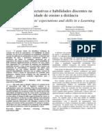 Análise de expectativas e habilidades discentes na  modalidade de ensino a distância