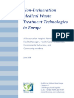 Non-Incineration Medical Waste Treatment Tech