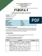 Cronograma de Actividades y Evaluación2014