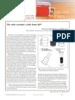 Solar Constant Experiment