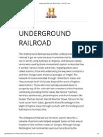 underground railroad - black history - history