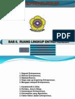 K-03, Latar Belakang Entrepreneur