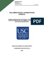 Normas Generales Reglamentos Laboratorios