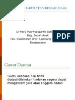 Kuliah Kegawatdaruratan Bedah Anak 2011