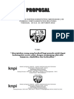 Proposal Musdakab XII KNPI 2012