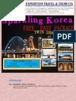 itinerary south korea