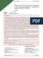 EFFECTIVENESS OF A NEW BALANCE TRAINING PROGRAM ON ROCKER BOARD IN SITTING IN STROKE SUBJECTS A PILOT STUDY