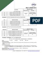 Calendrier 2014 Junior DELF
