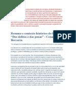 97358654 Resumo Do Livro Dos Delitos as Penas