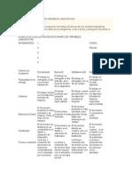 Rúbrica Diccionario de Variables Lingüísticas
