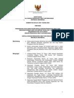 Keputusan Kepala Badan Pengawas Obat Dan Makanan Republik Indonesia Nomor HK.00.05.21.4231 Tahun 2004 Tentang Organisasi Dan Tata Kerja Badan Pengawas Obat Dan Makanan