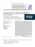 Does the Central Nervous System Learn to Plan Bimanual - Visual Feedback