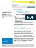 Financial Management - Sharing Costs Across Projects vs. Shared or Indirect