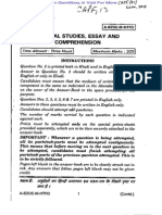 CAPF(AC) Exam - General Studies, Essay and Comprehension 2013 Paper-II
