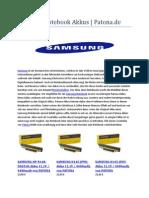 Samsung Notebook Akkus