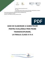Ghid Evaluare Clasa a VI-A