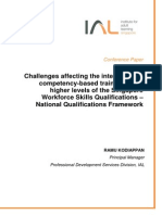 Challenges Affecting the Integration of Competency-based Training at the Higher Levels of the Singapore Workforce Skills Qualifications - National Qualifications Framework_2