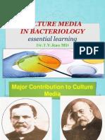 CULTURE MEDIAIN BACTERIOLOGY