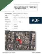 Informe de Habitabilidad y Estado Estructural Academia Tarapaca 1