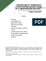 O DONNELL Guillermo - Accountability Horizontal La Institucionalizacion