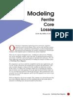 7 Modeling Ferrite Core Losses