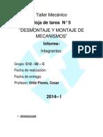 187073826 461 Informe de Taller Mecanico n 5 Docx