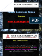 Heat Exchanger Tubes - Anand Seamless Tube