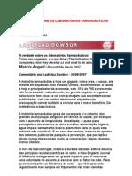 Ladislay Dowbor - A verdade sobre os laboratórios farmacêuticos - comentário - saúde - medicamentos