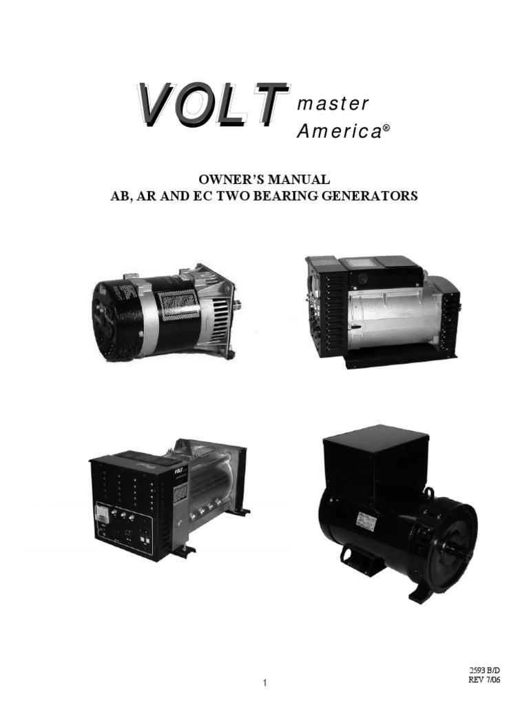 Voltmaster Ab Manual Belt Mechanical Electric Generator Avr As440 Wiring Diagram
