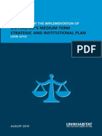 Peer Review of the Implementation of UN-Habitat's Medium-term Strategic and Institutional Plan (2008-2013)