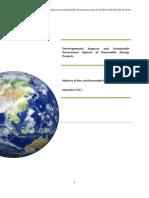 Report on Developmental Impacts of REnergy