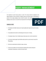 Oil Palm Nursery Management