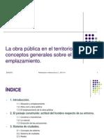 TEMA 1. La Obra Pública en El Territorio, Conceptos Generales Sobre
