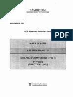 Mark Scheme 3 Winter 2002
