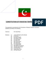 Pakistan Tehreek-e-Insaf Constitution